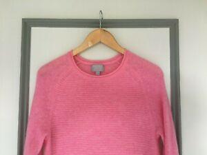 Pure Collection 100% Gassato Cashmere Jumper Size 10 Pink