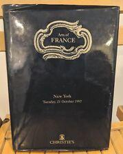 ARTS OF FRANCE Christie's Auction House New York 1997 Color Prints HCDJ