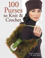 100 Purses to Knit & Crochet Pattern Book by Jean Leinhauser & Rita Weiss