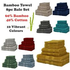 8 Piece BAMBOO Towel Bale Set LUXURY Egyptian Natural 60% Bamboo 40% Cotton