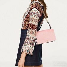 Brand New --TORY BURCH SADIE VELVET SHOULDER BAG STYLE with tag Soft Pink