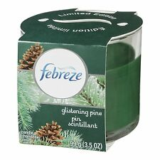 Limited Edition Febreze GLISTENING ALPINE CHRISTMAS HOLIDAY Candle * RARE
