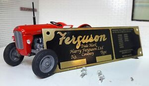 Massey Ferguson Tractor Brass Implement Chassis Plate & Rivets (11 Patent Nos)