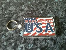 Made In The USA Jumbo Keyring. NEW. Gift Idea. Stars and Stripes Flag. America