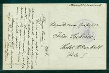 "1914, Hungary Naval postcard, ship 'TEGETTHOFF"" purple circular ship cancel, VF"
