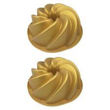 2x Silikon Gugelhupf Kuchen Backform Silikonbackform Gugelhupfform Kuchenform