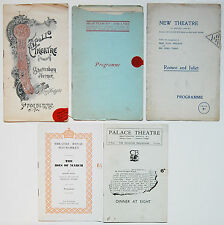 5 London Programs-Apollo, Shaftesbury, Palace, New & Royal Haymarket Theatres