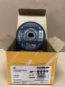 25 Stk Flexscheiben Rhodius KSM Trennscheiben 115 x 3,0 mm Metall Stahl FLEX NEU