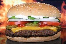 Fridge magnet with Burger Cheeseburger Hamburger Food Fastfood