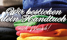 STICK Handtuch Duschtuch Badetuch Saunatuch BESTICKT MIT NAMEN nach Wunsch