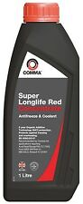 Comma 1L Super Longlife Antifreeze & Coolant 1 Litre Red Concentrate Anti Freeze