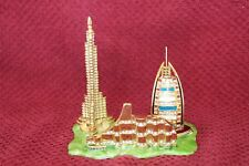 Qfi Enameled Jeweled Dubai United Arab Emirates City Scape Sculpture Miniature