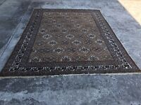 7'7'' X 12  Antique Turkmen Tribal Oriental hand knotte wool  Rug hand made