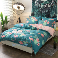 Flamingo Single/Double/Queen/King Bed Quilt/Doona/Duvet Cover Set 100% Cotton