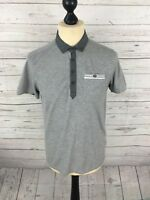 TED BAKER Polo Shirt - Size 3 Medium - Grey - Great Condition - Men's