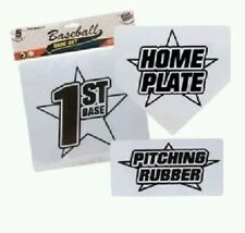 Baseball Bases Running Plates Game Set Softball T Ball Kids Simple Basic Cheap