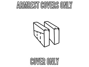 IKEA NORSBORG COVER SLIPCOVER FOR ARMREST ONLY FINNSTA DARK GRAY