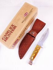 CASE XX 678-3 1/2 2004 RATTLESNAKE SLAB SIDE HUNTER & SHEATH FIXED BLADE KNIFE