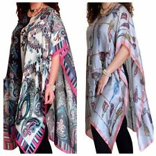 Maglie e camicie da donna multicolore su seta con girocollo