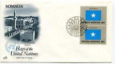 United Nations #411 Flag Series, Somalia, ArtCraft, pair,  FDC
