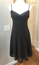Antonio Melani Brown Linen Lace Chocolate Brown Spaghetti Strap dress Size 4
