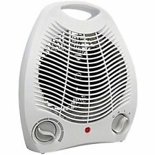 Portable Space Heater Compact Home Office Quiet, Adjustable Thermostat, White