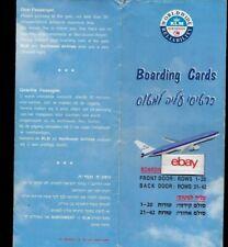 KLM ROYAL DUTCH AIRLINES BOARDING CARD TEL AVIV BEN-GURION-AMS SCHIPHOL 767-300