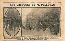 Paris Obsèque de Camille Pelletan Ministre Marine Viviani Malvy Sembat WWI 1915