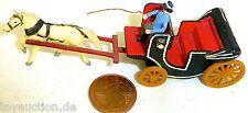 Open Coach with Coachman One Horses Wood Preiser 471A 1:87 H0 #Gd1 PR23 Å