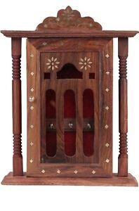 Wooden key House Key hanger box wood key house key holder rose wood
