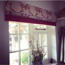 A PAIR OF HAND MADE ROMAN BLINDS (two blinds) - Barnaby Gates Deer Damask Fabric