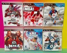NBA Basketball NCAA MMA FIFA Soccer Madden MLB Sony PlayStation 3 PS3 6 Games