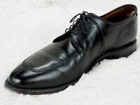 ALLEN EDMONDS 'DELRAY' OXFORD DRESS SHOES MENS 10 C NARROW BLACK LEATHER Lace Up