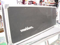 Washburn Bantam Double Neck Headless Bass Guitar hard case 1980's