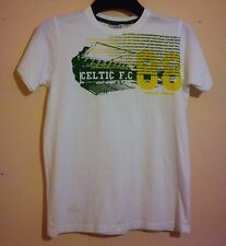 "Celtic Football Club Camiseta Talla 12/13 Blanco Verde Amarillo 34"" pecho oficial 88"