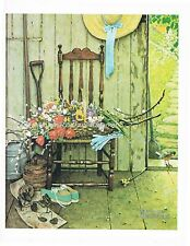 """NORMAN ROCKWELL print """"SPRING FLOWERS"""" 11"""" x 15"""" of his only still-life painting"""