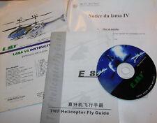 LOT MANUEL DVD manual NOTICE fly guide E-SKY ESKY hélicoptere LAMA 4 V4 TWF EK1H