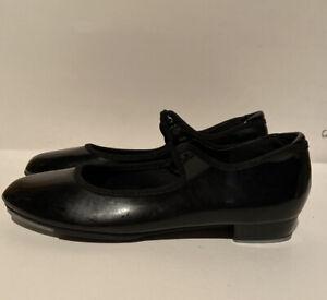 DANSHUZ STAR TONE DANCE FOOTWEAR BLACK PATENT LEATHER TAP SHOES SIZE 7.5 M