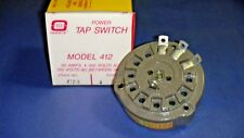Ohmite 412-3 Rotary Tap Switch Model 412 50A 300VAC 3 Position Non-Shorting NOS