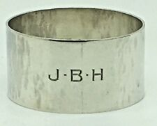 Carl Poul Petersen Sterling Silver Napkin Ring Monogram JBH HBJ BHJ Solid