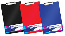 3x Anker Home Office Fold Over Foolscap Clipboard with Cover - RANDOM COLOUR
