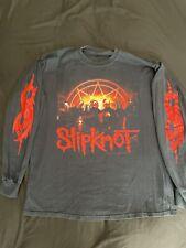 VTG Slipknot 2000's L Long Sleeve T Shirt Black Band Metal Vintage Original Memb