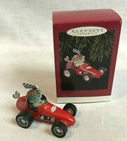 Hallmark Keepsake Christmas Ornament Acorn 500 Race Car in Original Box 1995