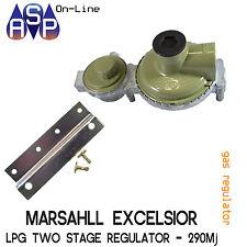 Marshall LPG 2 Stage High Capacity Regulator - 290mj Manual Changeover Tap
