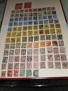 GB KING EDWARD VII 120 USED STAMPS