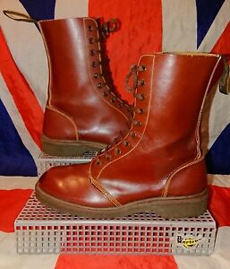 England Vintage*Classic 1490 Oxblood Cherry Red Dr Doc Martens*Punk Skin Goth*6