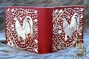 Gallos rooster handmade wallet purse pocket artesanal Cartera De Hilo De Plata