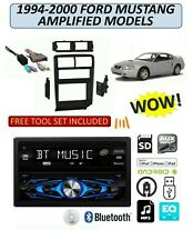 1994-2000 FORD MUSTANG w/ AMP AM/FM USB CD AUX MP3 BLUETOOTH CAR STEREO PKG