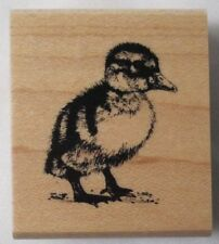 Inkadinkado Wildlife Friends Wild Animals Baby Chick Duck Duckling Rubber Stamp