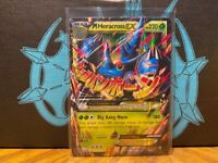 LP MEGA Pokemon M HERACROSS EX Card FURIOUS FISTS Set 5/111 XY X Y Ultra Rare